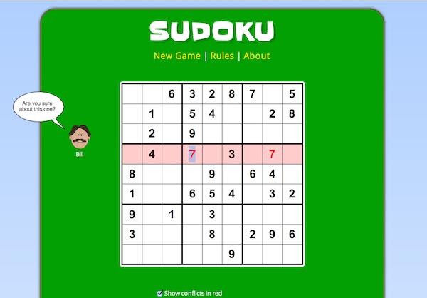 Sudoku in Javascript